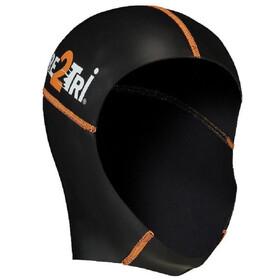 Dare2Tri Neoprene Swimcap black/orange